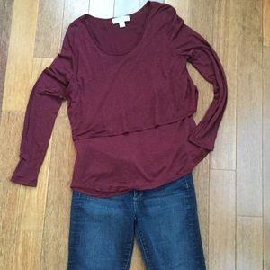 Michael Kors Long Sleeve Tiered Shirt XL
